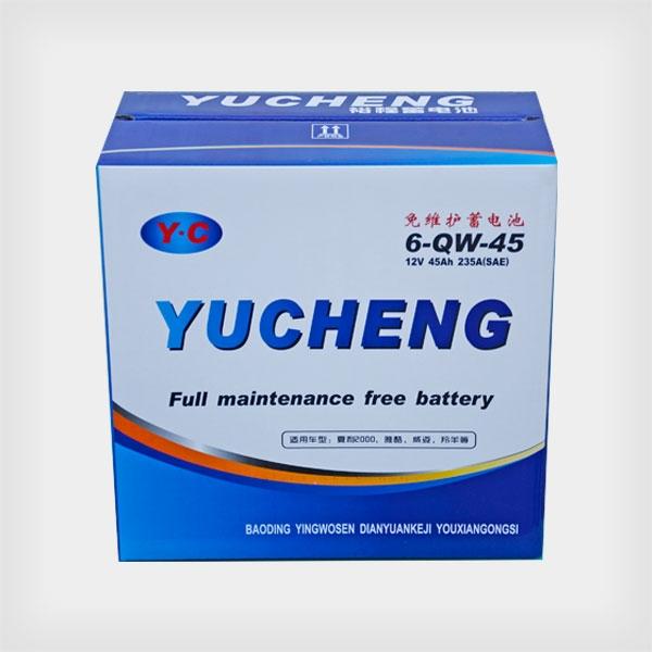 裕程免维护蓄电池6-QW-45