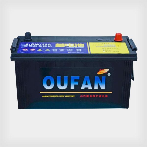 欧帆高性能免维护蓄电池6-QW-120