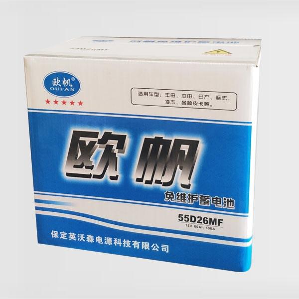 免维护蓄电池55D26MF