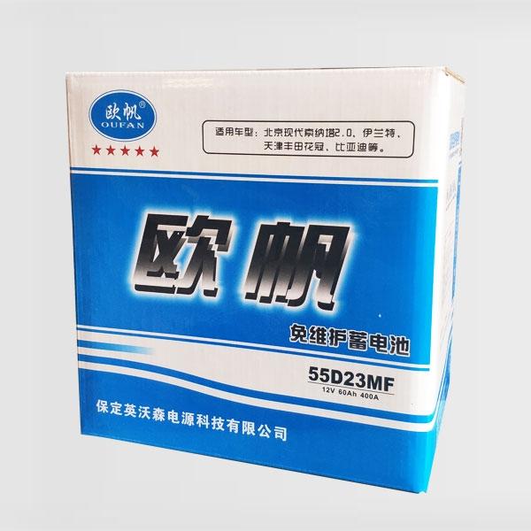 免维护蓄电池55D23MF